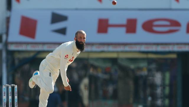 Moeen Ali of England bowling during day two of the second PayTM test match between India and England held at the Chidambaram Stadium in Chennai, Tamil Nadu, India on the 14th February 2021 Photo by Saikat Das / Sportzpics for BCCI