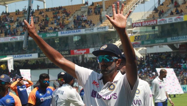 Ravichandran Ashwin took eight wickets and scored a century in the second Test at Chennai. Image: Sportzpics for BCCI