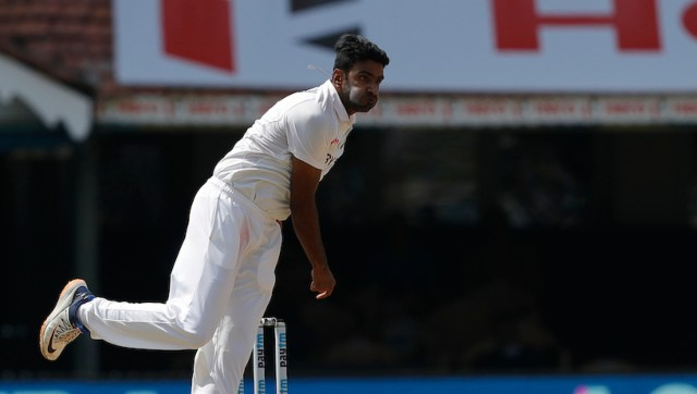 Ravichandran Ashwin of India bowling during day two of the second PayTM test match between India and England held at the Chidambaram Stadium in Chennai, Tamil Nadu, India on the 14th February 2021 Photo by Saikat Das / Sportzpics for BCCI