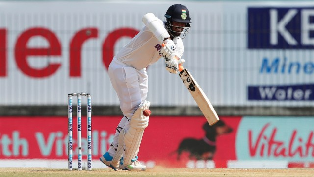 Washington Sundar of India batting during day four of the first test match between India and England held at the Chidambaram Stadium stadium in Chennai, Tamil Nadu, India on the 8th February 2021 Photo by Saikat Das/ Sportzpics for BCCI