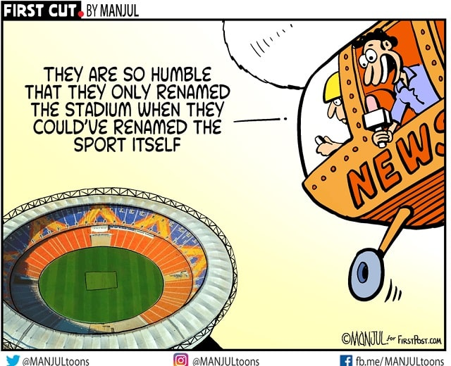 Worlds largest stadium in Motera named after Narendra Modi Congress dubs move disgrace says shows PM narcissist