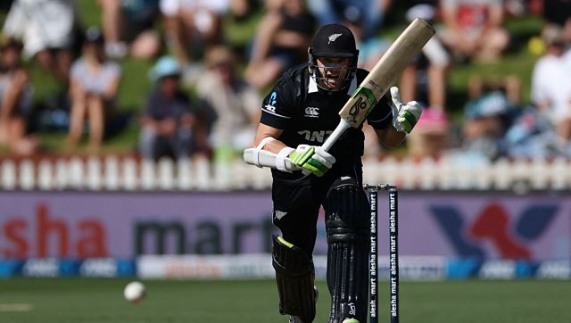 New Zealand's captain Tom Latham plays a shot during the third one-day international. AFP