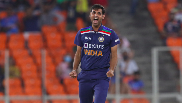 Bhuvneshwar Kumar took 10 wickets across eight matches against England in March. Image: Sportzpics