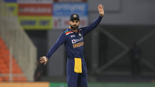 India skipper Virat Kohli in action in the first T20I against England at Ahmedabad. Sportzpics