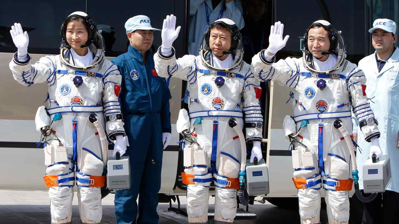Astronauts in training for crewed missions to Chinas upcoming space station CNSA