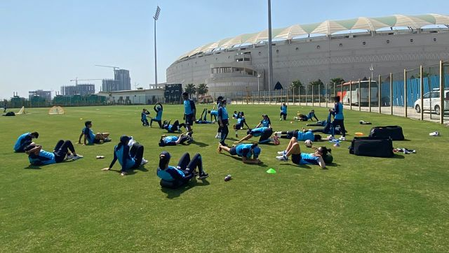 Members of Indian women's cricket team during a training session. Image Courtesy: Twitter @BCCIWomen