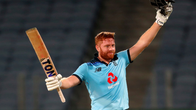 Jonny Bairstow smashed 124 off 112 balls to setup a comfortable victory for England in the second ODI in Pune. AP