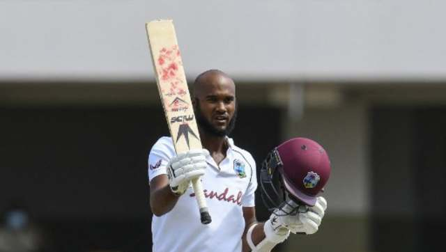 Kraigg Brathwaite was the 16th player in Test history to be stranded on 99 overnight and he maintained a streak as all 16 have been converted into hundreds. He has now scored nine of the last 10 centuries by a West Indies opener. AFP