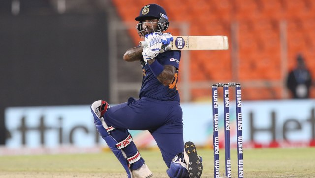 Suryakumar Yadav made 57 off 31 on his batting debut for India and also clinched the Player of the Match award. Images: Sportzpics for BCCI