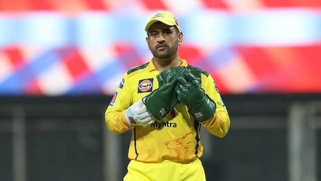 MS Dhoni in action during IPL 2021. Sportzpics