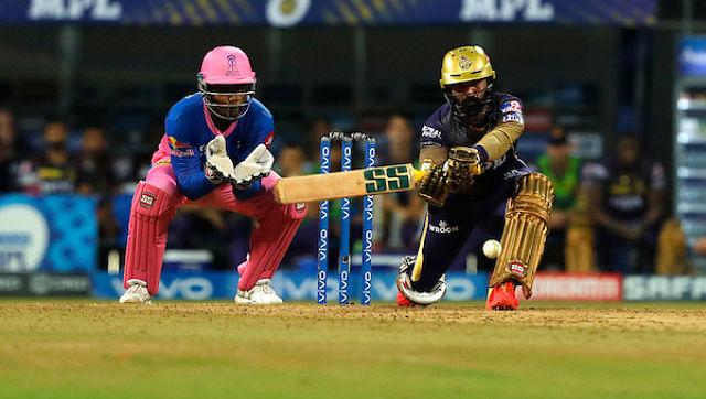 RR bowlers never let KKR batsmen score freely. Sportzpics