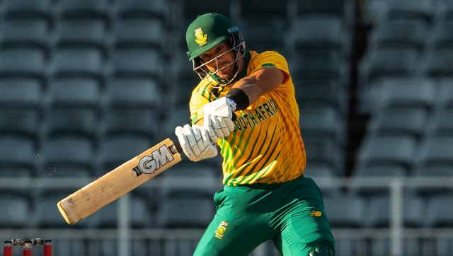 Aiden Markram in action against Pakistan in the second T20I. AP