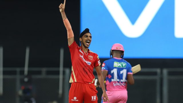 Arshdeep Singh defended 13 runs in the last over as Punjab Kings defeated Rajasthan Royals by four runs. Image: Sportzpics