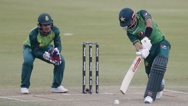 Babar Azam's century set up Pakistan's three-wicket victory over South Africa in the first one-day international. AFP