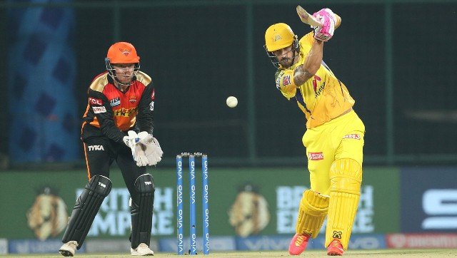 Faf du Plessis, who hit the only six of CSK innings, also relied on intelligent strokeplay against SRH. Image: Sportzpics