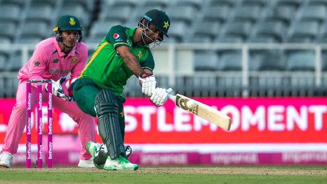 Fakhar Zaman in action against South Africa. AP