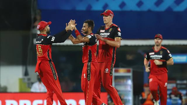 IPL 2021 photos Glenn Maxwells blistering 59 effective death bowling headline RCBs lastgasp win over SRH