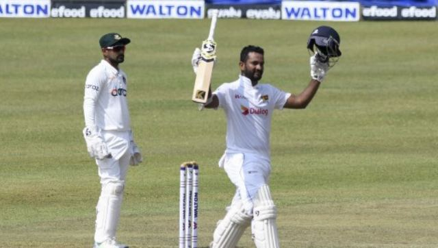 Dimuth Karunaratne was watchful in the first hour, settling in before cutting loose once the ball got older. On 28, he was dropped at first slip and that proved to be costly. AFP