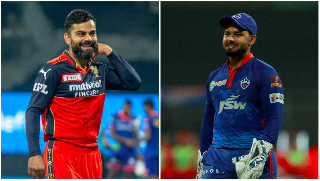 Virat Kohli and Rishabh Pant, captains of Royal Challengers Bangalore and Delhi Capitals respectively. Sportzpics