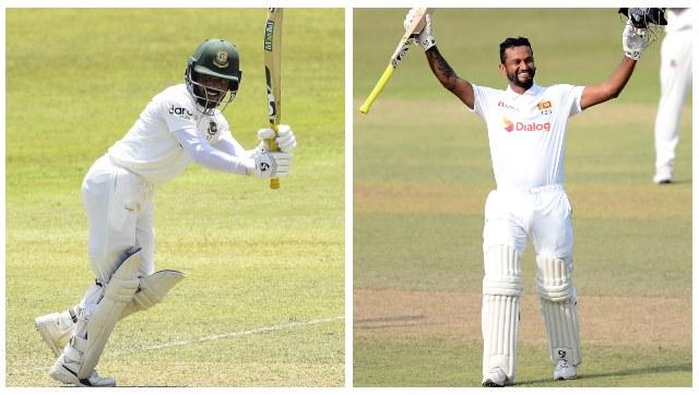 File image of Bangladesh captain Mominul Haque and Sri Lanka captain Dimuth Karunaratne.