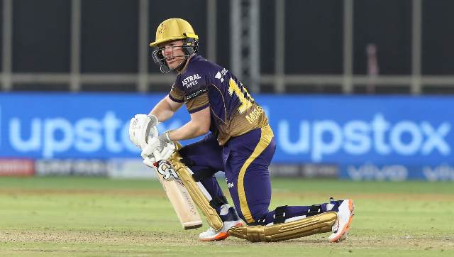 Eoin Morgan (4x4, 2x6) showed perfect intent to seize control with Rahul Tripathi in a 66-run partnership off 48 balls as KKR sealed the issue in 16.4 overs to return to winning ways. Sportzpics