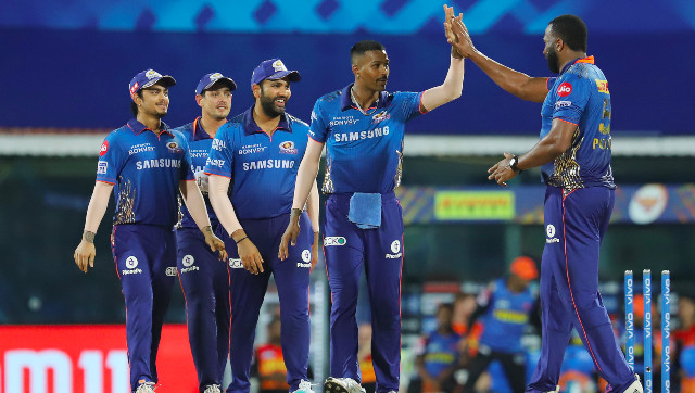 Mumbai Indians posted 150/5 after opting to bat before restricting Sunrisers Hyderabad to 137 to register their second win in three games in IPL 2021. Sportzpics