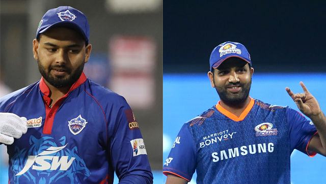 DC captain Rishabh pant and MI captain Rohit Sharma. Sportzpics