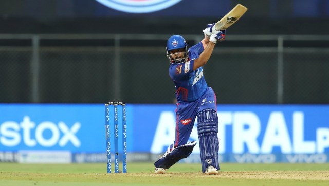 Prithvi Shaw in action in IPL 2021. SportzPics