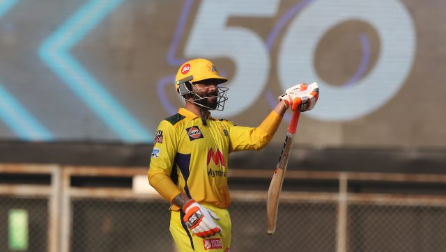 Ravindra Jadeja slammed 62 off 28 and took three wickets as Chennai Super Kings defeated Royal Challengers Bangalore. Image: Sportzpics for IPL