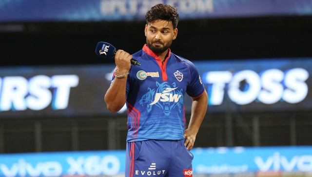 Rishabh Pant captain of Delhi Capitals during match 2 of the Vivo Indian Premier League 2021 between Chennai Super Kings and Delhi Capitals held at the Wankhede Stadium Mumbai on the 10th April 2021. SportzPics