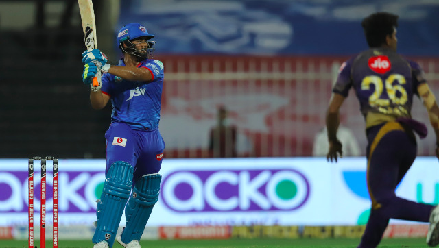 Rishabh Pant of Delhi Capitals bats during match 16 of season 13 of the Dream 11 Indian Premier League (IPL) between the Delhi Capitals and the Kolkata Knight Riders held at the Sharjah Cricket Stadium, Sharjah in the United Arab Emirates on the 3rd October 2020. Photo by: Deepak Malik / Sportzpics for BCCI