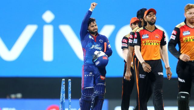 Rishabh Pant captain of Delhi Capitals after the super over of the match 20 of the Vivo Indian Premier League 2021 between the Sunrisers Hyderabad and the Delhi Capitals held at the M. A. Chidambaram Stadium, Chennai on the 25th April 2021. Photo by Vipin Pawar / Sportzpics for IPL