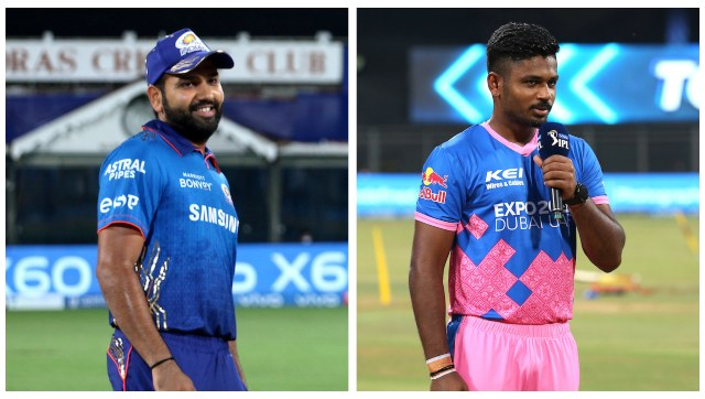 File image of Mumbai Indians captain Rohit Sharma and Rajasthan Royals captain Sanju Samson. SportzPics