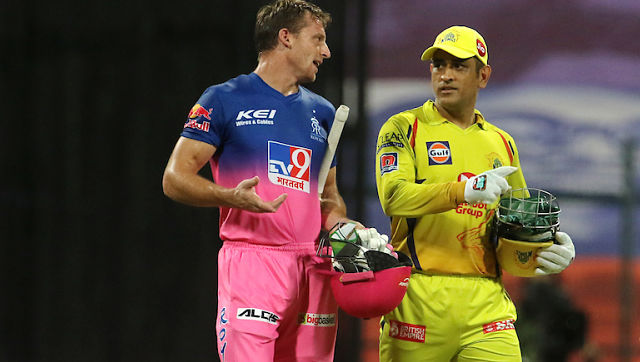 File image of Jos Buttler and MS Dhoni. Sportzpics