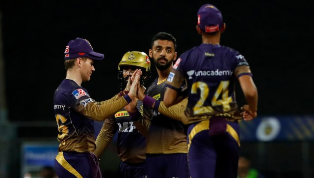 Kolkata Knight Riders' bowling attack was unable to to make up for the batsmen's poor performance, but Varun Chakravarthy did manage to pick up a couple of wickets. SportzPics