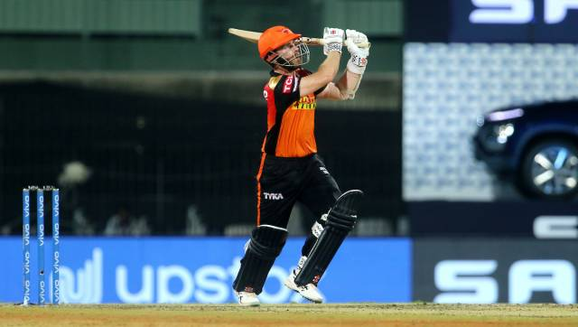 Kane Williamson of Sunrisers Hyderabad plays a shot during match 20 of the Vivo Indian Premier League 2021 between the Sunrisers Hyderabad and the Delhi Capitals held at the M. A. Chidambaram Stadium, Chennai on the 25th April 2021. Photo by Vipin Pawar / Sportzpics for IPL