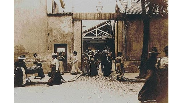 Workers Leaving the Factory How Louis Lumires 1895 film bound labour and cinema together for eternity