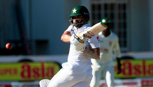 Pakistan batsman Azhar Ali was dismissed for 126 on the opening day of the second Test against Zimbabwe in Harare. AP