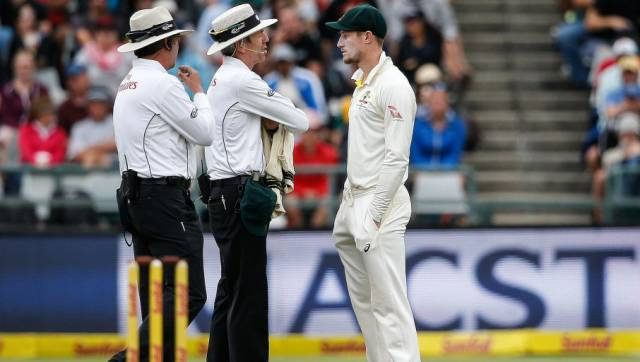 Cameron Bancroft (in picture), Steve Smith and David Warner served bans for ball-tampering in 2018. AFP