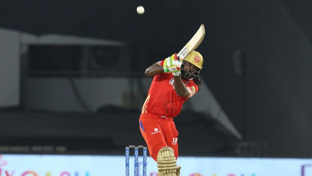 Chris Gayle of Punjab Kings bats during match 26 of the Vivo Indian Premier League 2021 between the Punjab Kings and the Royal Challengers Bangalore held at the Narendra Modi Stadium, Ahmedabad on the 30th April 2021. Photo by: Deepak Malik / Sportzpics for IPL