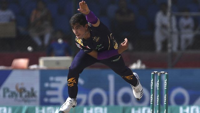 Naseem Shah was supposed to be a vital cog in Quetta Gladiators' campaign in the remaining games of PSL 2021 in Abu Dhabi. AFP