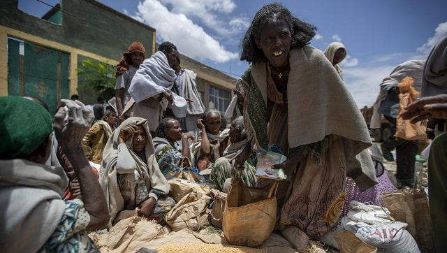 In faminehit Tigray food turns into weapon of war as Ethiopian and Eritrean military block aid