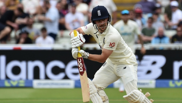 England's Rory Burns top-scored with 81 on the opening day of the second Test against New Zealand. AP