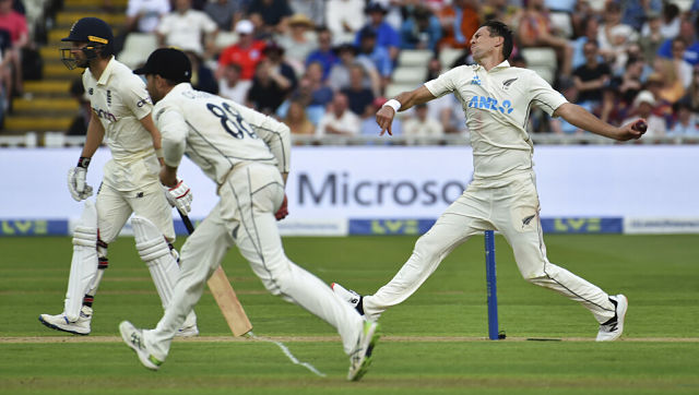 New Zealand's Trent Boult in action against England at Edgbaston. AP