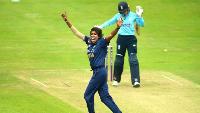 Jhulan Goswami was the pick of the bowlers for India in the first ODI. AP