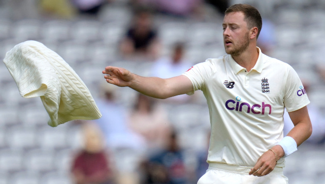 File image of England pacer Ollie Robinson. AP