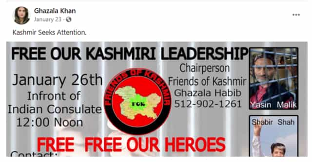 Kashmir faces deep threat as Pakistan offers tacit support to Houston network to spread Islamic fanaticism separatism in Valley