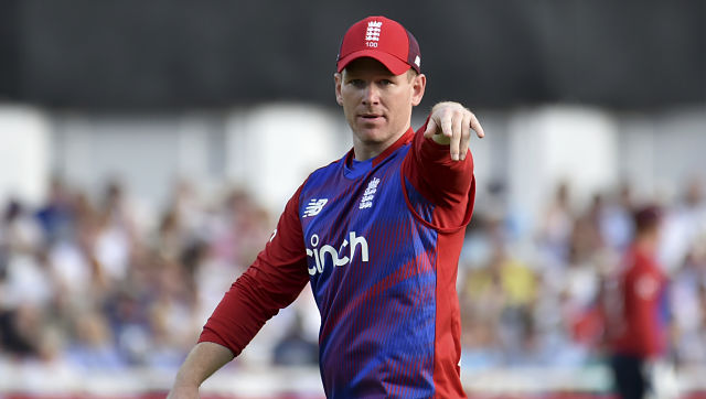 England captain Eoin Morgan during the first T20I against Pakistan. AP