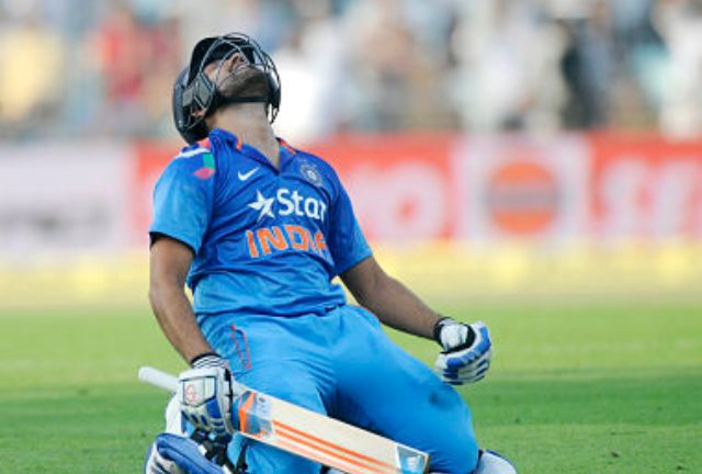 Rohit Sharma broke records en route to his knock of 264 in 2014. Sportzpics