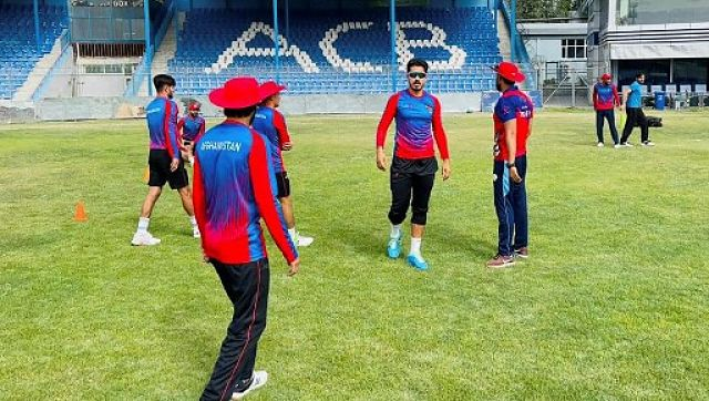 Afghanistan players during a training session ahead of the ODIs against Pakistan. AFP
